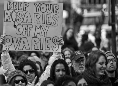 Keep your rosaries off our ovaries